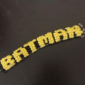 Jewelry - Rainbow loom Batman bracelet